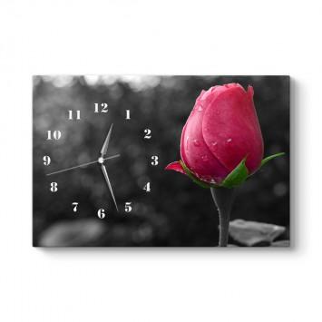 Kırmızı Gül Tablo Saat