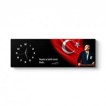 Atatürk Kanvas Tablo Saat