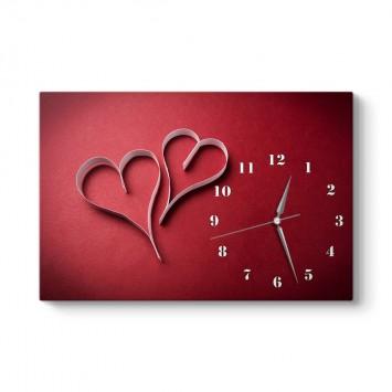 Kalp Kalıbı Tablo Saat