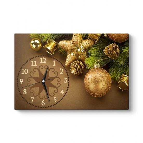Yılbaşı Ağaç Süsleri Tablo Saat