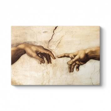 Michelangelo - Adem'in Yaratılışı Tablosu