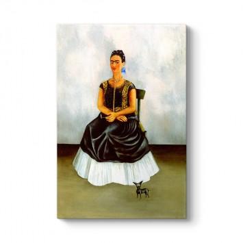 Frida Kahlo - Itzcuintli Dog with Me Tablosu