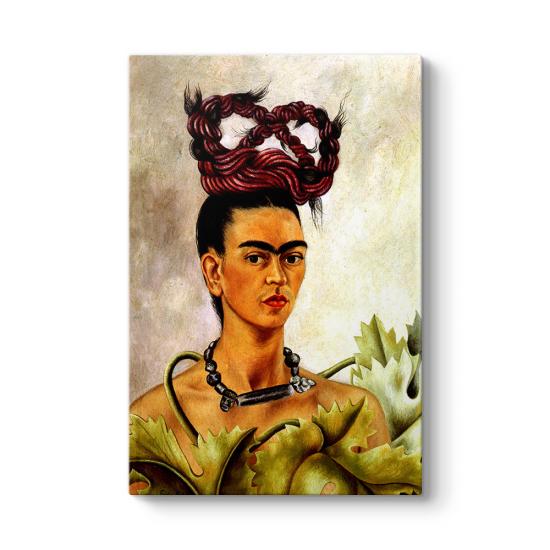 Frida Kahlo - Self Portrait with Braid Tablosu