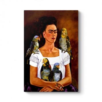 Frida Kahlo - Me and My Parrots Tablosu