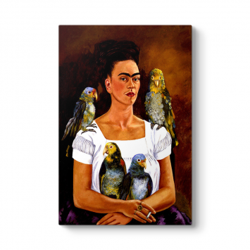 Frida Kahlo - Me and My Parrots Tablosu