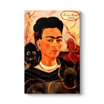 Frida Kahlo - Small Monkey Tablosu