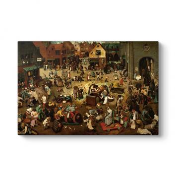 Pieter Bruegel - Karnaval ve Perhiz Tablosu