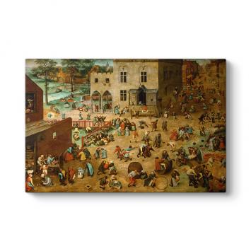 Pieter Brueghel - Children's Games Tablosu