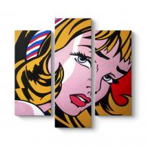 Roy Lichtenstein - Crying Girl Tablosu
