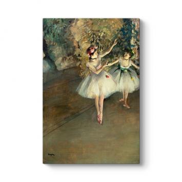 Edgar Degas - Two Ballerinas Tablosu