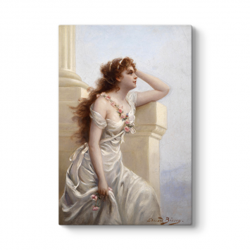 Edouard Bisson - A Young Beauty Tablosu