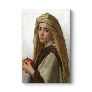 William Adolphe Bouguereau - Girl With Pomegranate Tablosu
