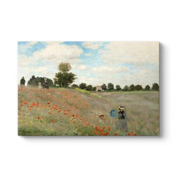 Claude Monet - Poppy Field Tablosu