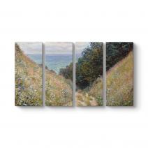 Claude Monet - Road at La Cave Tablosu