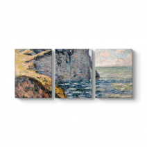 Claude Monet - The Cliff of Aval Tablosu