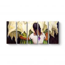 Diego Riviera - Vendedora de Flores Tablosu
