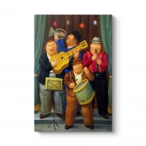 Fernando Botero - The Orchestra Tablosu