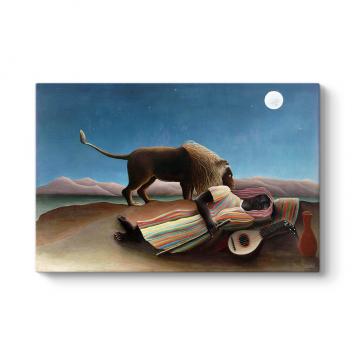 Henri Rousseau - Sleeping Gypsy Tablosu