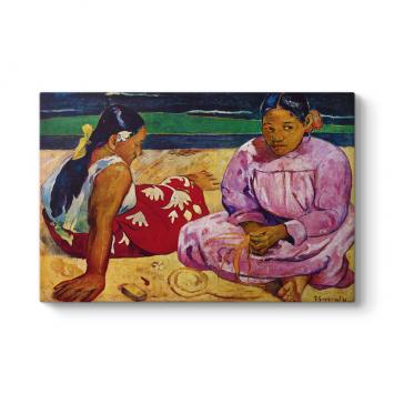 Paul Gauguin - On The Beach Tablosu