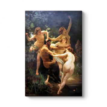 William Adolphe Bouguereau - Nymphs and Satyr Tablosu