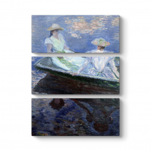 Claude Monet - Two Girls In A Boat Tablosu