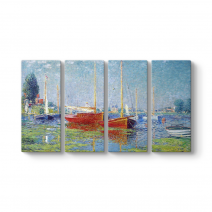 Claude Monet - Red Boats at Argenteuil Tablosu