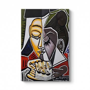 Pablo Picasso - Tete Dune Femme Tablosu
