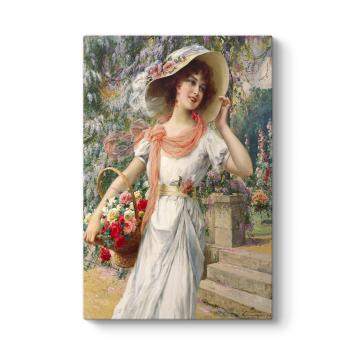 Emile Vernon - The Flower Girl Tablosu