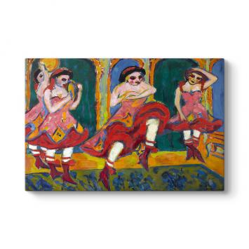 Ernst Ludwig Kirchner - Dancers Tablosu