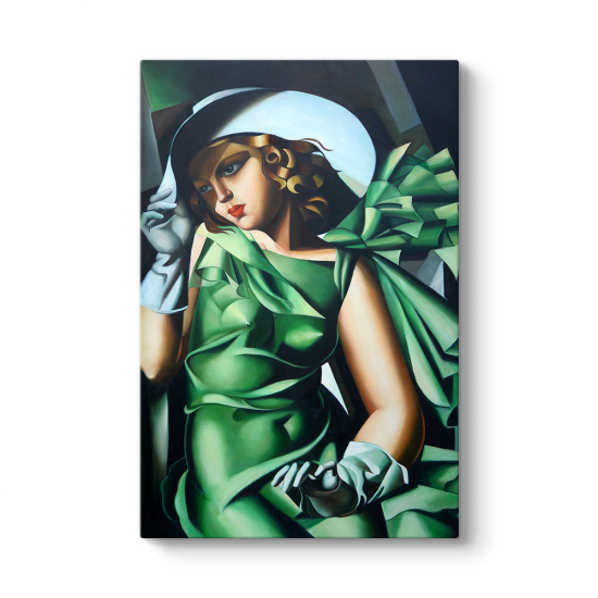 Tamara de Lempicka - Green Gloves Tablosu