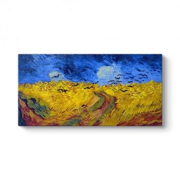 Vincent Van Gogh - Buğday Tarlası ve Kargalar Tablosu