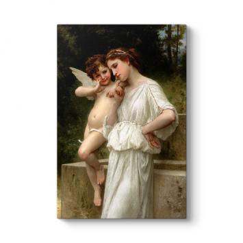 William Adolphe Bouguereau - Love's Scerets Tablosu