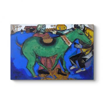 Marc Chagall - The Green Donkey Tablosu