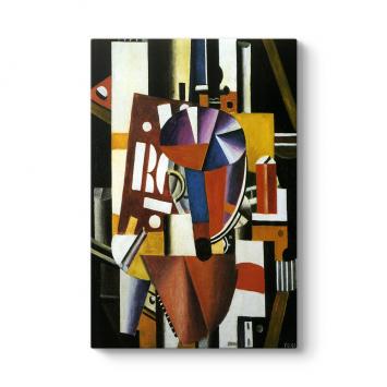 Fernand Leger - The Typographer Tablosu
