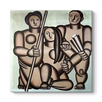 Fernand Leger - Three Characters Tablosu