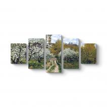 Claude Monet - Elma Ağaçları Tablosu