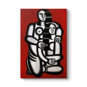 Fernand Leger - Kırmızı 3 Kadın Tablosu