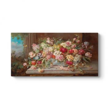 Hans Zatzka - Spring Flowers Tablosu