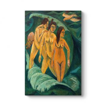 Ernst Ludwig Kirchner - Three Bathers Tablosu