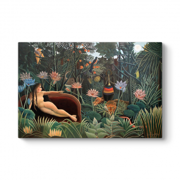 Henri Rousseau - The Dream Plaques Tablosu