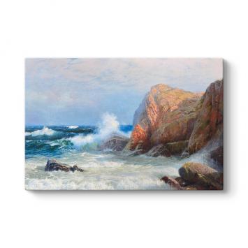 Wilhelm Muller Brieghel - Stormy Sea Tablosu