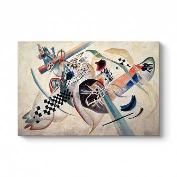 Wassily Kandinsky - On White Tablosu