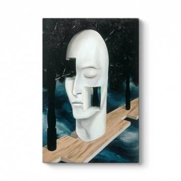 Rene Magritte - The Face Of Genius Tablosu