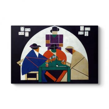 Theo Van Doesburg - Card Players Tablosu