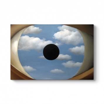 Rene Magritte - The False Mirror Tablosu