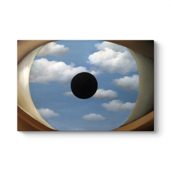 Rene Magritte - The False Mirror Tablosu