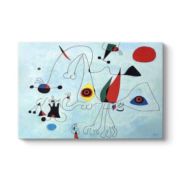 Joan Miro - Women and Birds Tablosu