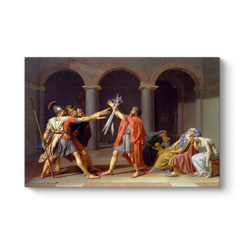 Jacques Louis David - Horas Kardeşlerin Yemini Tablosu