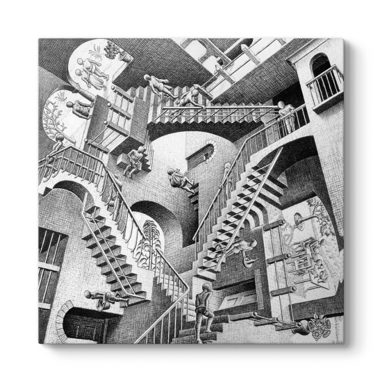 Mc Escher - Relativity 1953 Tablosu