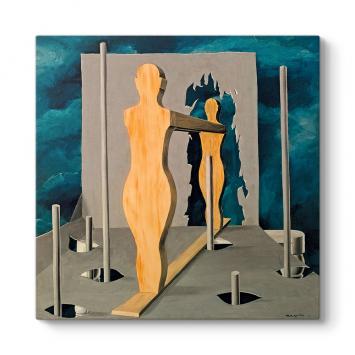 Rene Magritte - The Face Of Genius II Tablosu